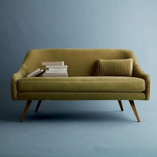 """Roar + Rabbit Glamour Velvet Sofa (60"""")"""
