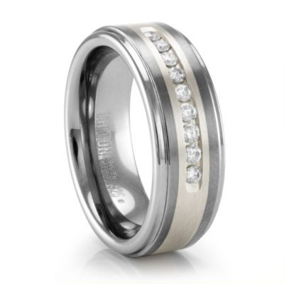 Diamond wedding bands cheap burberry and chanel bags on for Chanel mens wedding rings