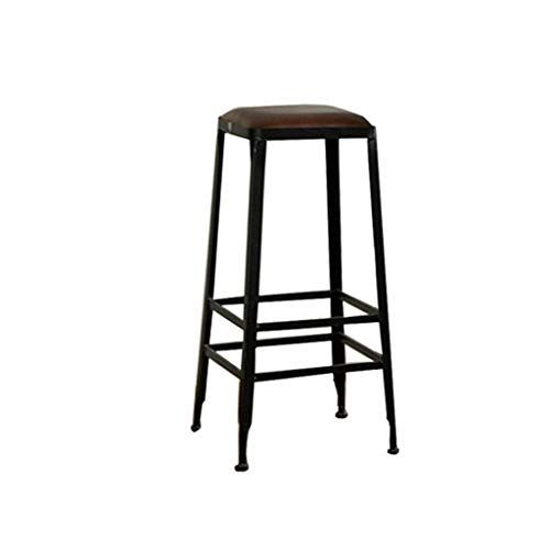 Living Room Furniture Stool Wrought Iron Bar Chair High Stool Wooden Kitchen Breakfast Double Reinforcement Sea Wooden Kitchen High Stool Bar Chairs