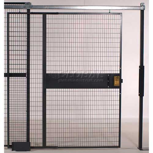 Wire Mesh Partitions Fencing Partition Security Enclosures Wirecrafters 840 Style Woven Wire Slide Door 5 W X 8 H 8 5 1 4 Doors Wire Mesh Mesh Door