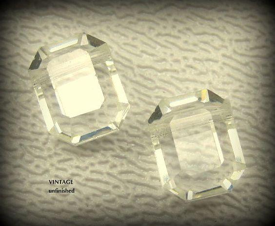Vintage Swarovski Crystal Top-Drilled Beads by BeadBunker on Etsy