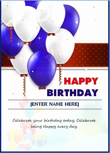 Microsoft Word Birthday Card Templates Lovely Happy Birthday Wishing Card Word Birthday Card Messages Happy Birthday Cards Printable Birthday Card With Name