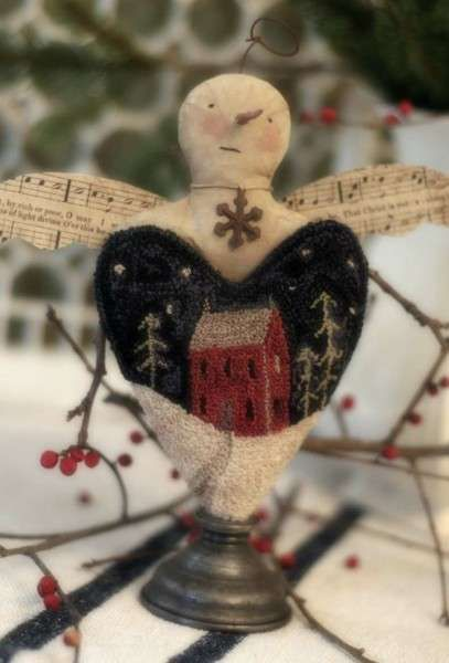 Snowflake Cherub - Punchneedle: