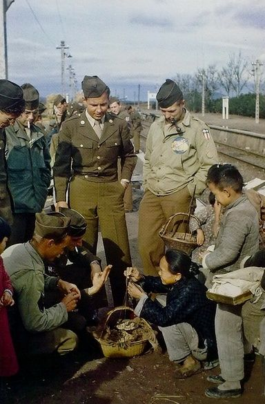 US airmen in China, circa 1944
