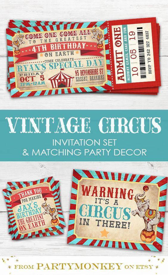 Greatest Showman Birthday Invitation Greatest Showman Etsy In 2021 Circus Birthday Invitations Circus Birthday Party Circus Invitations