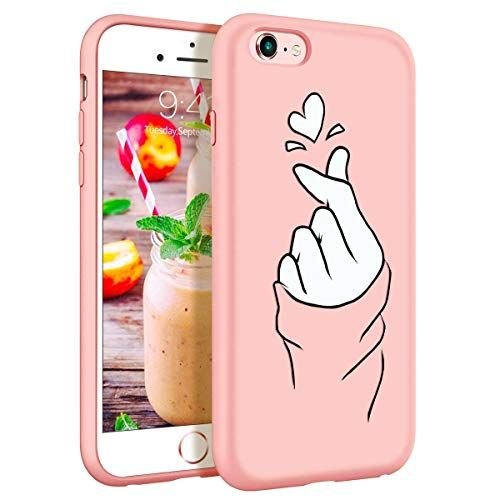 coque iphone 6s rose coeur