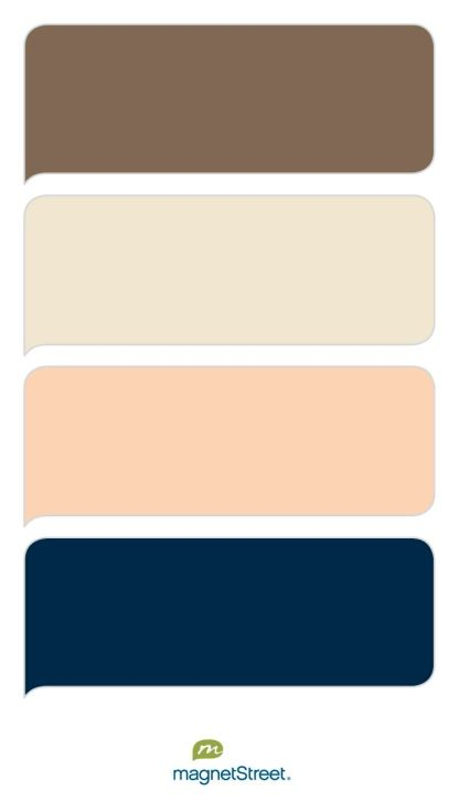 Latte champagne peach and navy wedding color palette - Peach color paint palette ...