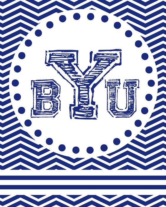 This is an image of Astounding Byu Coloring Pages