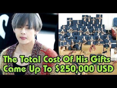 Bts News 3 Most Expensive Gifts V Got For His Birthday This Year Expensive Gifts Years Bts