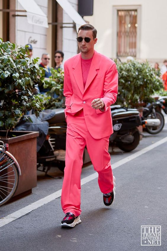 スーツ×スニーカー海外メンズコーデThe Best Street Style from Milan Men's Fashion Week S/S 2020