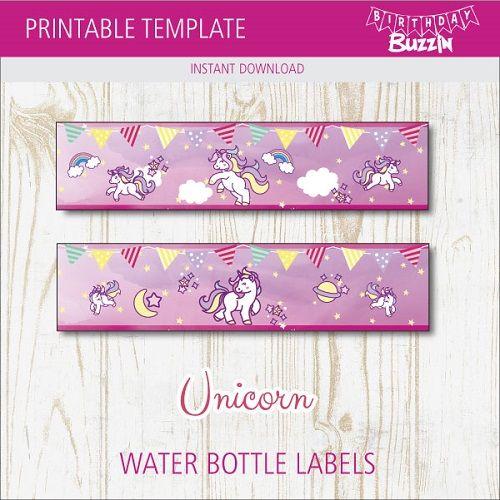Unicorn Birthday Ideas Unicorn Label U1 Unicorn Water Bottle Labels Unicorn Decorations Unicorn Theme Party Pink and Purple Baby Shower