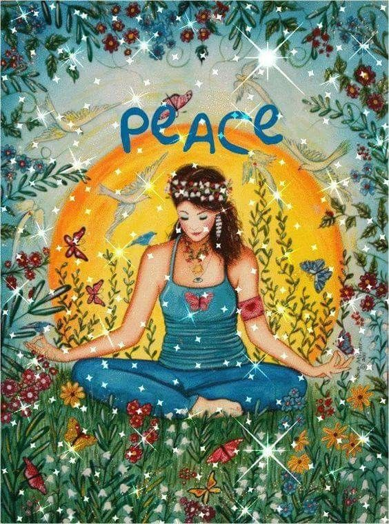 Pin By Sharon Leiter Weintraub On Affirmations Yoga Art Meditation Peace And Love