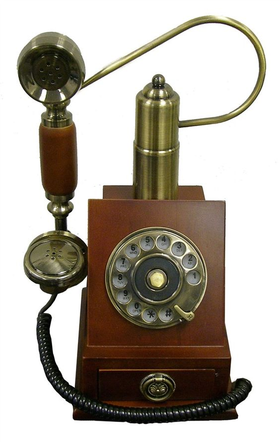 13 in. Classic Telephone in Mahogany Finish