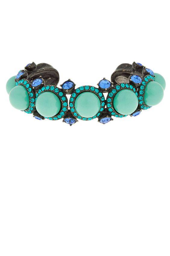 Lanvin Seafoam and Blue Pearl Bracelet
