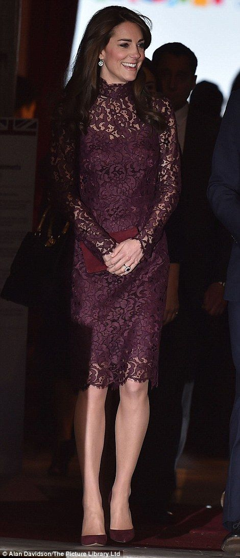 Whilst she has a reputation for being thrifty, Kate, who usually favours the high street, opted for a £1,850 dress by Dolce & Gabbana