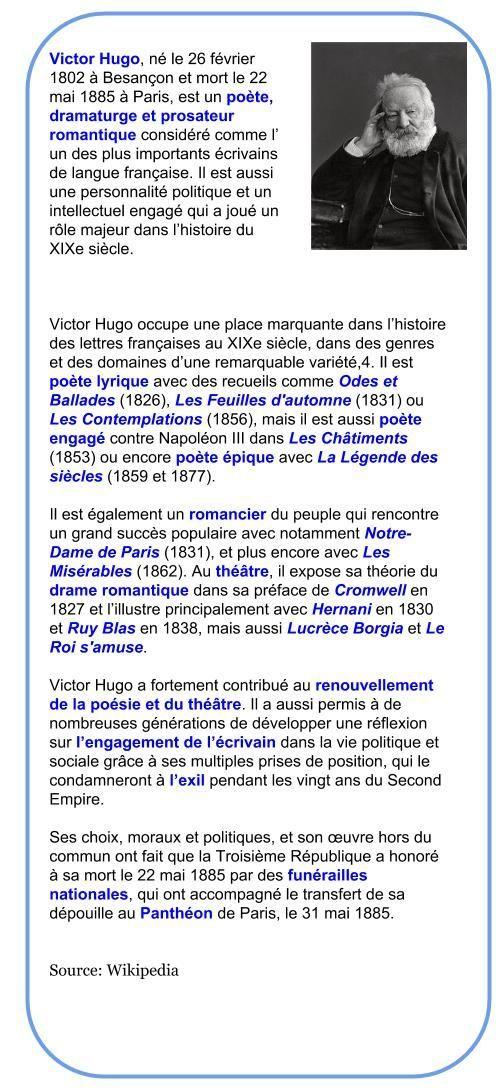 Victor Hugo 1802 1885 Francaise Hugo Victor Victor Hugo Victor Les Miserables
