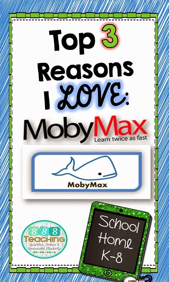 Sparkles, Smiles, and Successful Students: Moby Max Giveaway!: