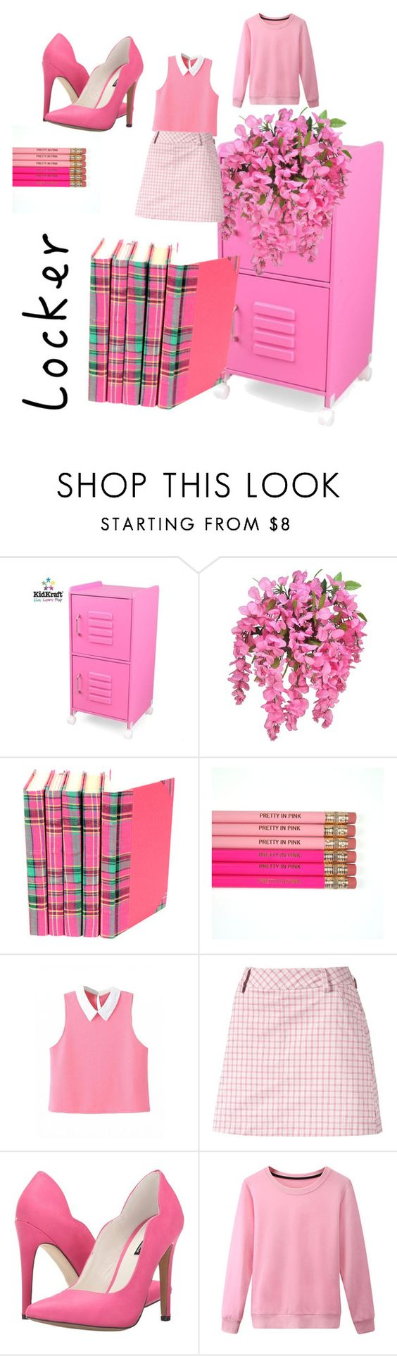 """pink 2 think"" by angelmaywinfield-1 ❤ liked on Polyvore featuring interior, interiors, interior design, home, home decor, interior decorating, KidKraft, Puma, Michael Antonio and mylocker"