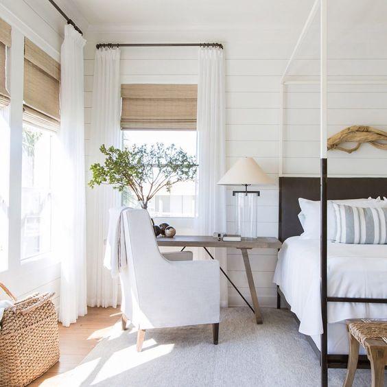 Modern coastal bedroom decor and design ideas #home #style #interiordesign
