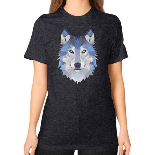 Designer Wolf Unisex T-Shirt (on woman)