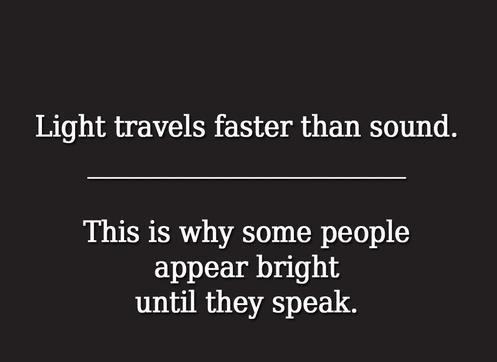 Light vs. Sound