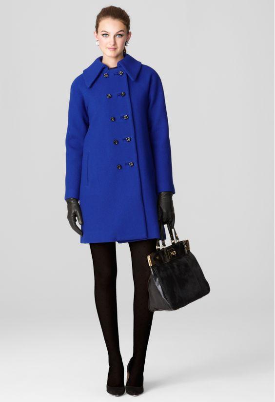 LENA COAT by Milly | blue coat | cobalt blue | fall coat | winter coat | wool coat
