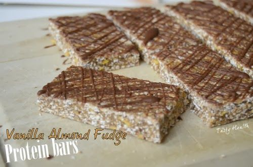 Tasty Health: Vanilla almond fudge proteinbars