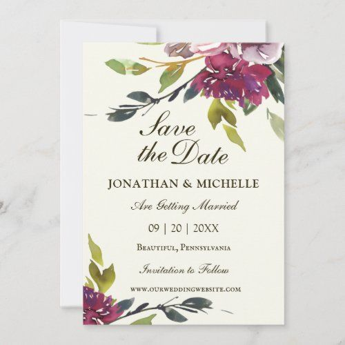 Pink Purple Floral Watercolor Christian Wedding Save The Date Zazzle Com Wedding Saving Christian Wedding Purple Wedding Invitations