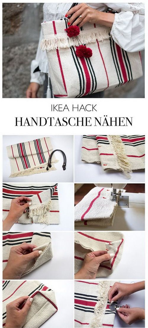 EL JARDIN DE LOS SUEÑOS: DIY bolso con una alfombra de IKEA