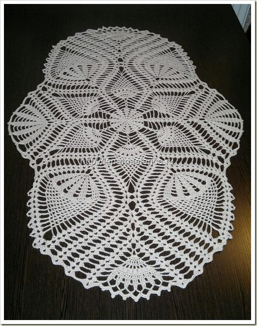 Free Crochet Oblong Tablecloth Patterns : Oval crochet doily ???????? ???????, ????-???????? ...