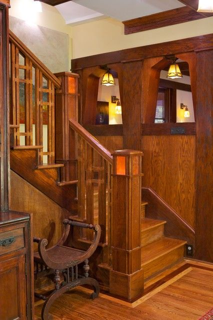 Best Craftsman Staircase Arts Crafts Staircases Pinterest 400 x 300
