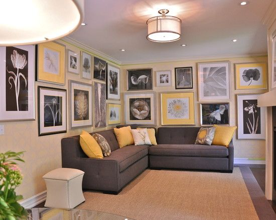 The Color Of My Living Room Is Going To Be Dark Brown, Yellow, Grey, And  White. This Living Room Jumped Out To Me Because Of The Beautiful Picture U2026 Part 47