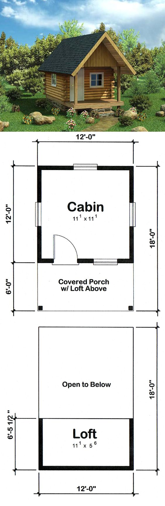 Cabin Log House Plan 6024 Compact Style And Log Siding