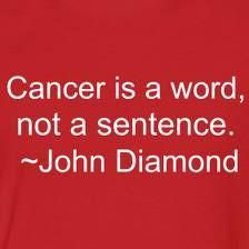 Cancer is a word, not a sentence - John Diamond