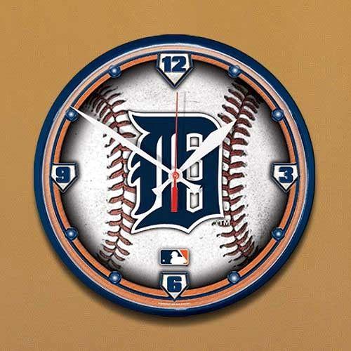 Detroit Tigers Baseball Wall Clock