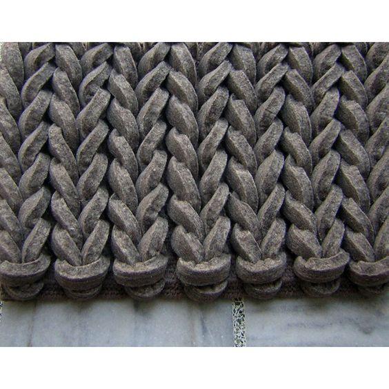 Modern Rugs Braided Gray Area Rug