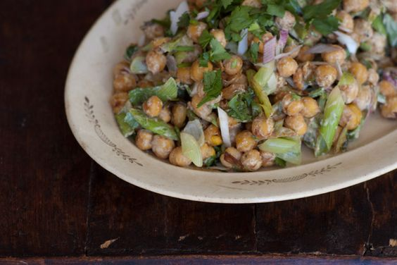Pan-fried Chickpea Salad-101 cookbooks