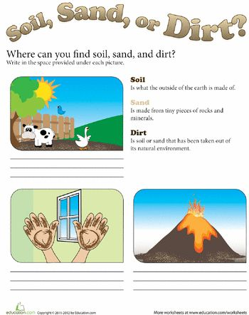 where can we find soil sand and dirt earth day we and