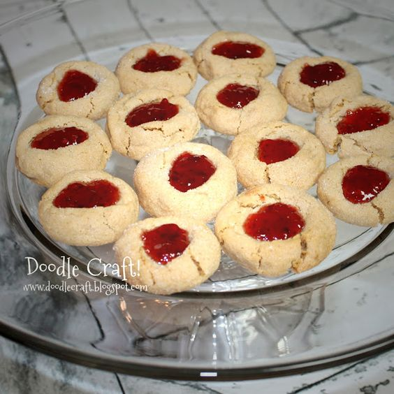 Peanut Butter and Jam Cookies!