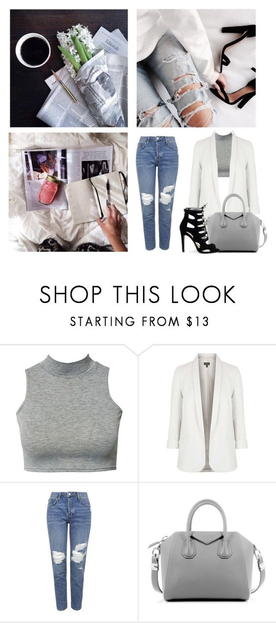 """i think you're lovely"" by lazyandboringgirl ❤ liked on Polyvore featuring Miu Miu, Topshop and Givenchy"