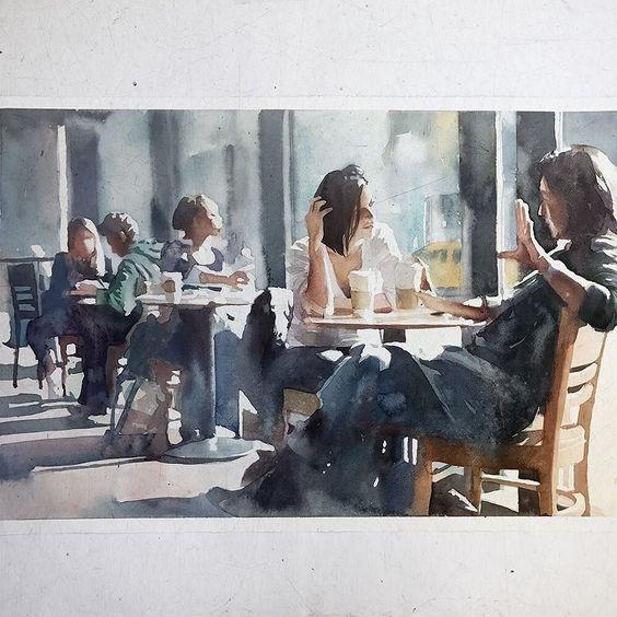 regram @marcosbeccari Sábado #aquarela #watercolor