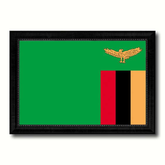 Zambia Country Flag Canvas Print, Picture Frame Home Decor Gifts Wall