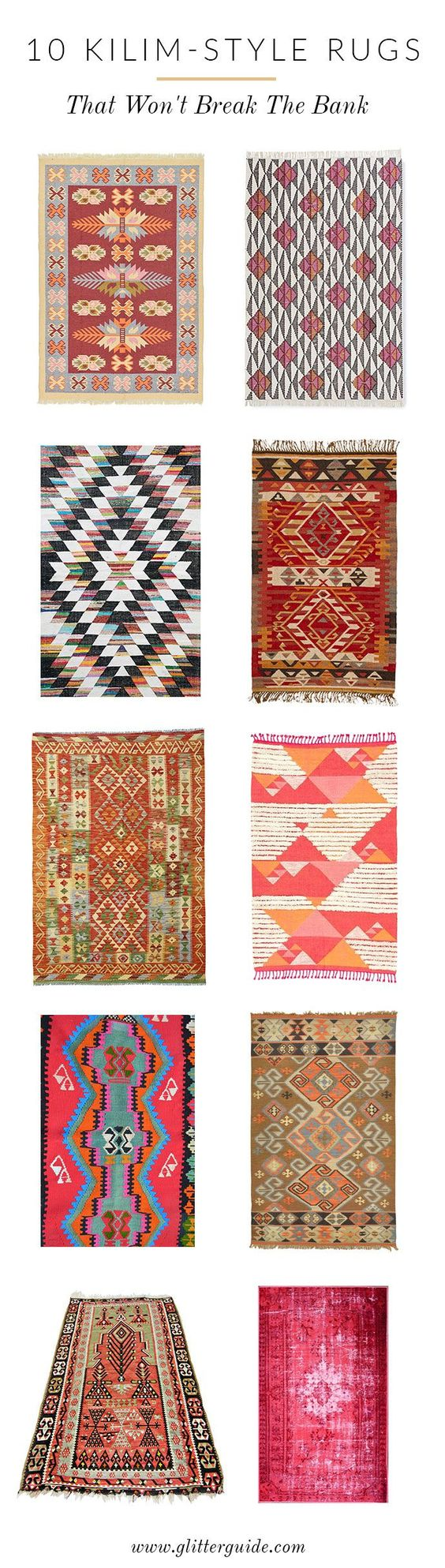 Loving kilim-style rugs these days. Here is where to save on this splurge-worthy trend!