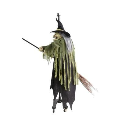 Home Accents Holiday 5.5 ft. Animated Flying Witch-5123172 - The Home Depot