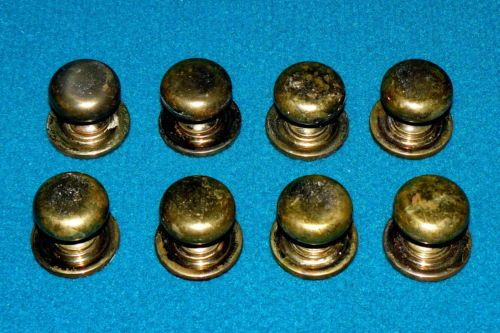 Antique-Replacement-BRASS-PULL-KNOBS-w-BACKPLATES-Drawers-Cabinets-MUSHROOM