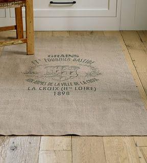 Burlap rug - so good for kids & dogs!