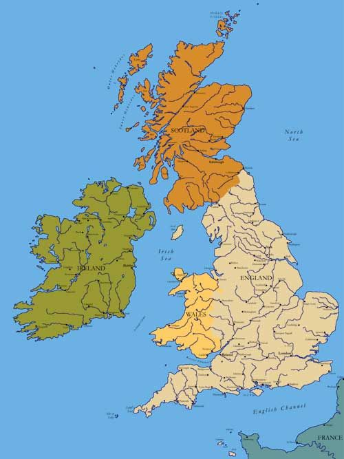 Map Of England Scotland Ireland And Walesng Favorite Places - Map of ireland and england