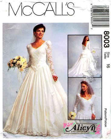 Vintage 1990s Mccall S Alicyn Exclusive Size 16 Uncut Sewing Pattern With Long Sleeves V Nec Blush Wedding Gown Wedding Dresses Strapless Empire Wedding Dress,Mothers Bride Wedding Dresses