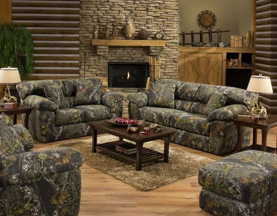 Camo living room set the 3206 big game by jackson for Camouflage living room ideas