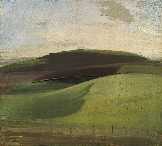 On the Downs (Wiltshire Landscape): William Nicholson, 1924.